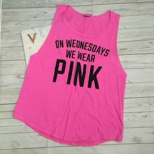 vs pink womens s mean girls tank top on wednesdays